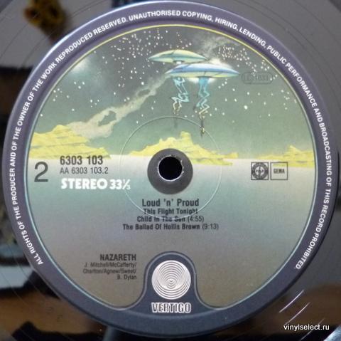 Английское издание nazareth loud n proud 1973 - mooncrest records